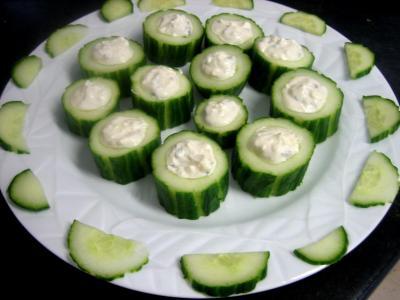 Bouchées au concombre et au roquefort - 6.3