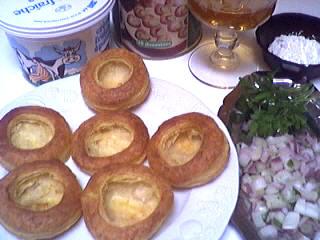 Ingrédients pour la recette : Bouchées aux escargots