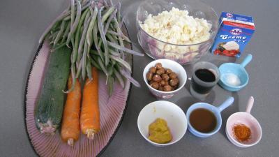 Ingrédients pour la recette : Salade de haricots verts aux noisettes