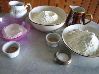 Ingrédients pour la recette : Pain à la farine complète à la poolish