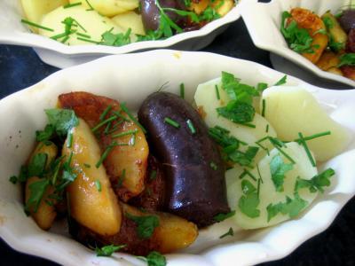 Image : Cassolette de boudin aux ppommes et pommes de terre