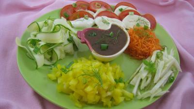 Image : Assiette de salade mozzarella