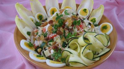 Image : Plat de boulghour aux endives et sa sauce aux amandes