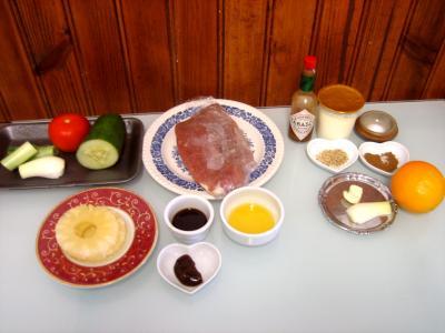 Ingrédients pour la recette : Brochettes à l'ananas minceur