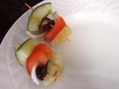 Brochettes à l'ananas minceur - 10.1