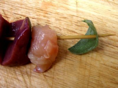 Brochettes de foie de veau aromatiques - 9.4