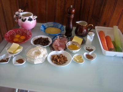 Ingrédients pour la recette : Dinde à l'orientale et ses crêpes