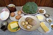 Ingrédients pour la recette : Crêpes aux brocolis et aux noix