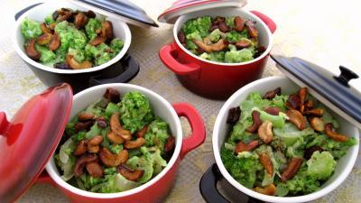 cassolette : Cassolettes de brocolis à la crème de coco