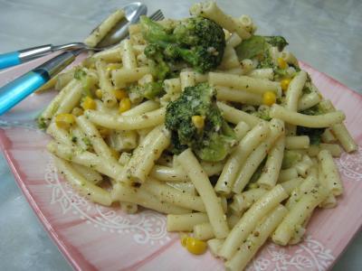 Macaronis aux brocolis et maïs - 7.3