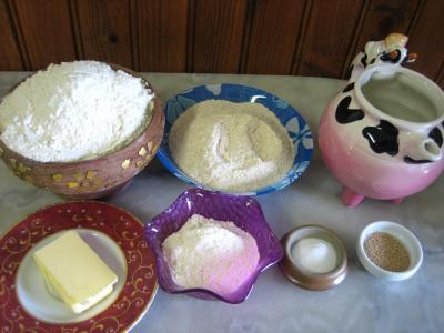 Ingrédients pour la recette : Pain au soja