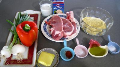 Ingrédients pour la recette : Côtes de porc au lait de coco