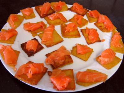Canapés de polenta au saumon fumé - 10.2