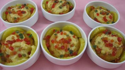 Dessert avec alcool : Cassolettes de baba à l'ananas