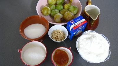 Ingrédients pour la recette : Fromage blanc aux mirabelles