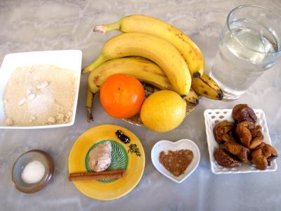 Ingrédients pour la recette : Chutney aux bananes et aux figues