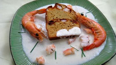 Recette Cake au chorizo et crevettes
