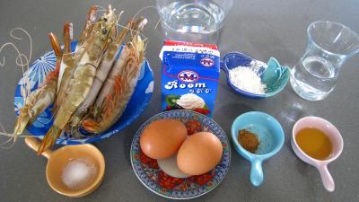 Ingrédients pour la recette : Sauce pâtissière aux crevettes