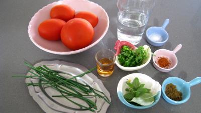 Ingrédients pour la recette : Boisson tomates santé