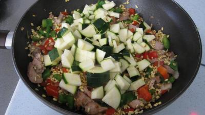 Sauté de dinde au blé et aux poivrons - 5.4