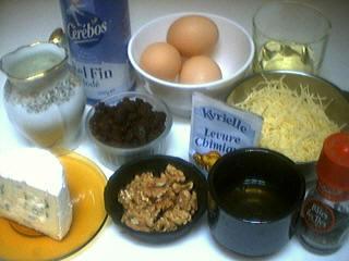 Ingrédients pour la recette : Cake au Bresse bleu