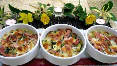 Recette Cassolettes de blé aux courgettes