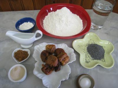 Ingrédients pour la recette : Pain aux figues sèches