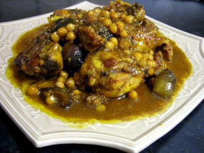 Image : Assiette de poulet aux figues et miel