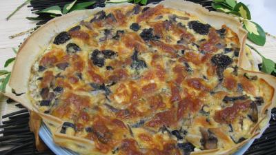 Cuisine diététique : Tarte de brick de champignons