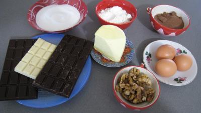 Ingrédients pour la recette : Brownies au chocolat blanc