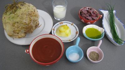 Ingrédients pour la recette : Chou-rave aux gésiers confits façon landaise