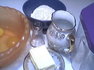 Ingrédients pour la recette : Pâte à choux