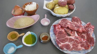Ingrédients pour la recette : Côtes de porc panées