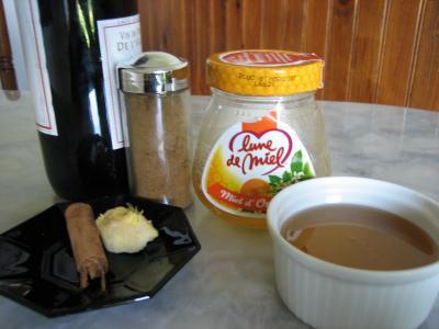 Ingrédients pour la recette : Vin aux épices
