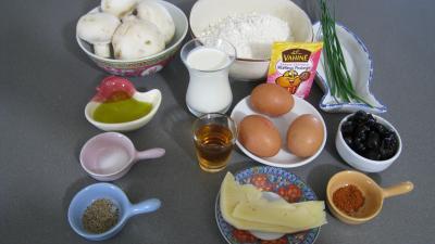 Ingrédients pour la recette : Cake aux champignons