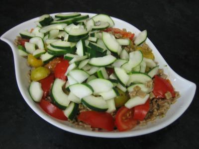 Salade végétarienne aux crozets et aux mirabelles - 6.2