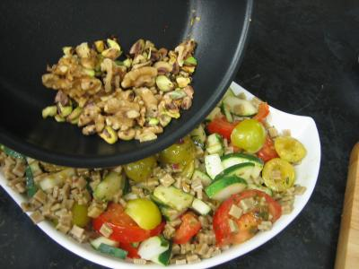 Salade végétarienne aux crozets et aux mirabelles - 7.3