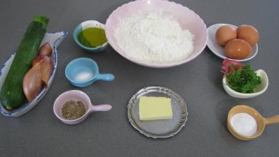 Ingrédients pour la recette : Cake aux courgettes