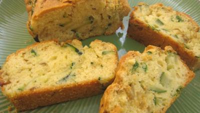 Cuisine diététique : Tranches de cake aux courgettes