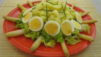 sauce mayonnaise : Assiette de salade Argenteuil