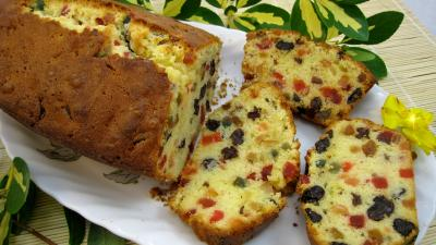 Cake aux fruits confits