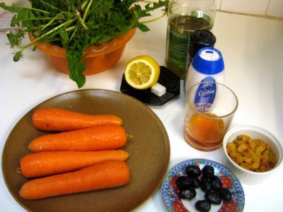 Ingrédients pour la recette : Carottes en salade