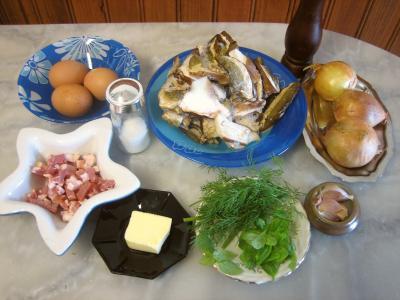 Ingrédients pour la recette : Cassolette aux oignons et aux cèpes