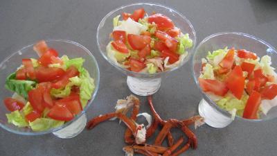 Verrines de homard en salade - 7.2
