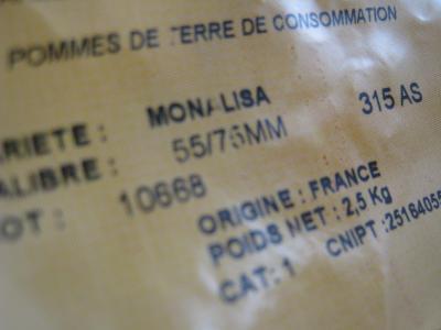 Etiquette Monalisa