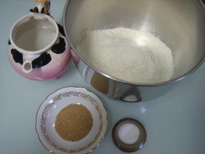 Ingrédients pour la recette : Pain bâtard en direct
