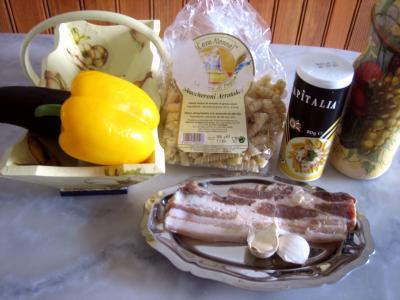 Ingrédients pour la recette : Maccheroni au parmesan