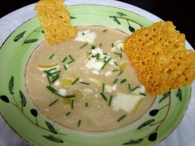 Cuisine diététique : Assiette de crème d'artichauts au chèvre