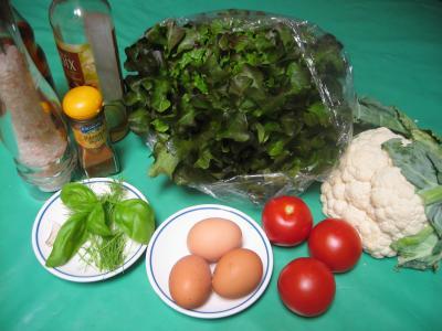 Ingrédients pour la recette : Chou-fleur en salade