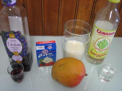 Ingrédients pour la recette : Cocktail de crème de mangue